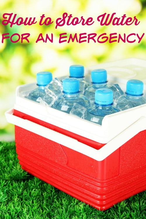 How to Store Water Safely