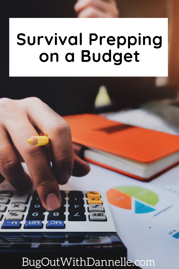 Survival Prepping on a Budget article cover image of a woman doing finances