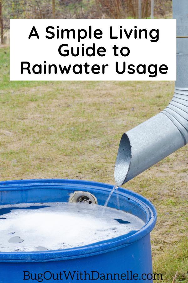how to use rainwater