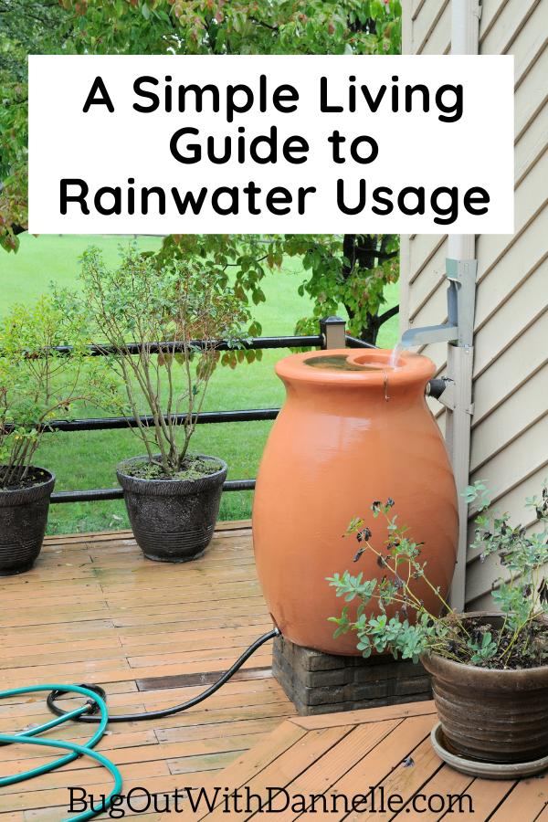 how to store rainwater