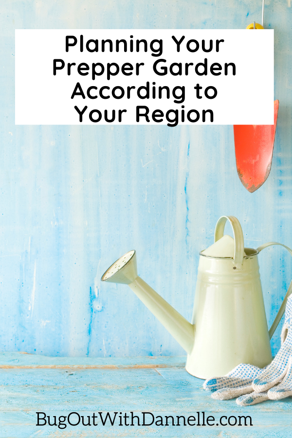 Planning Your Prepper Garden According to Your Region with watering can