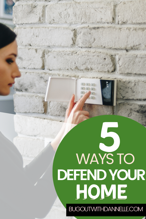 Five Ways to Defend Your Homestead woman arming a security system