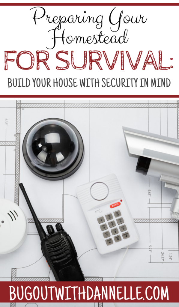Build Your House with Security in Mind article cover image with a picture of house plans with a security system