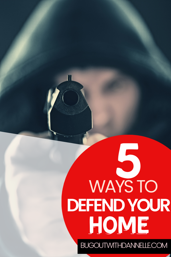 Five Ways to Defend Your Homestead article cover image of a man with a handgun