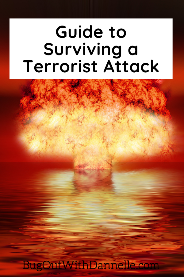 Guide to Surviving a Terrorist Attack article cover image that shows a bomb going off
